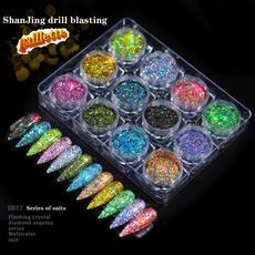 nail decoration, Laser, powderbrush, Beauty