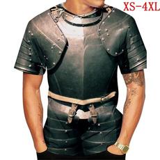Cosplay, Shirt, Printed Tee, Armor