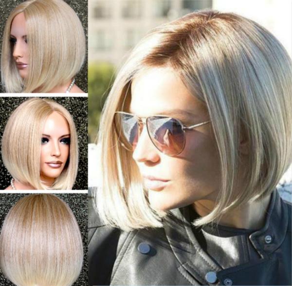 wig, straightwig, fashion wig, blondebobwig
