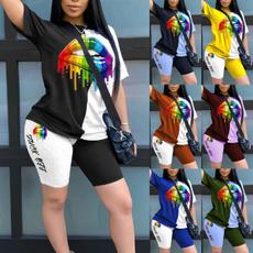 Plus Size, Necks, Colorful, pants