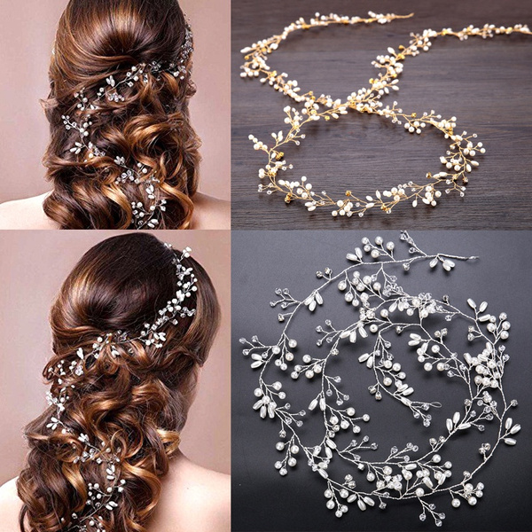 pearlhairband, gold, Makeup, cosmetic