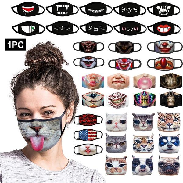 dustproofmask, mouthmask, Fashion, funnyfacemask