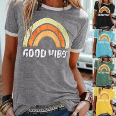 Summer, goodvibe, letter print, rainbow