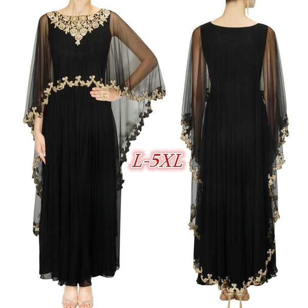 Plus Size, chiffon, Dress, Printing
