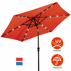 Steel, Outdoor, Umbrella, Solar
