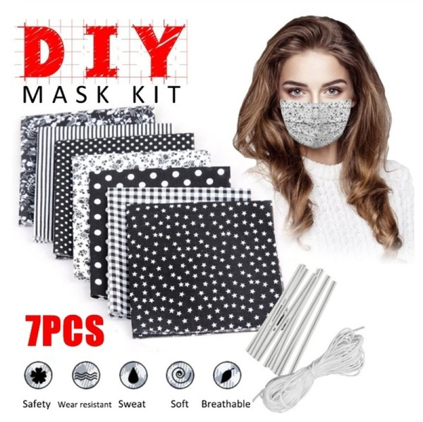 ensembledebricolage, Masque, matériel, couverturedevisagedebouche