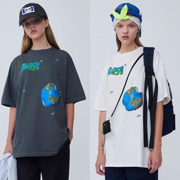 Shorts, Graphic T-Shirt, ader, Korea Style