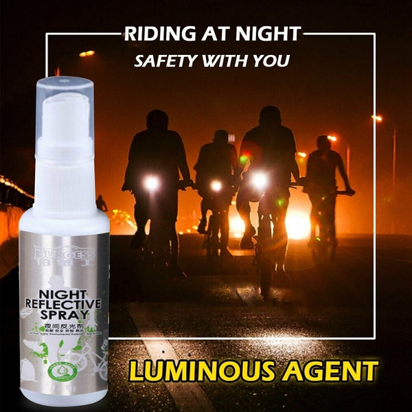 Night Reflective Spray Running Bike Fluorescence Paint Outdoor Reflective Spray Safety Mark Anti Accident Suitable For Shoes Helmet Bike Or Clothes Wish