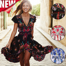Women's Fashion, Women S Clothing, printeddre, long dress