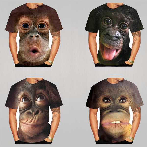 Mens T Shirt, Funny T Shirt, monkey, Sleeve