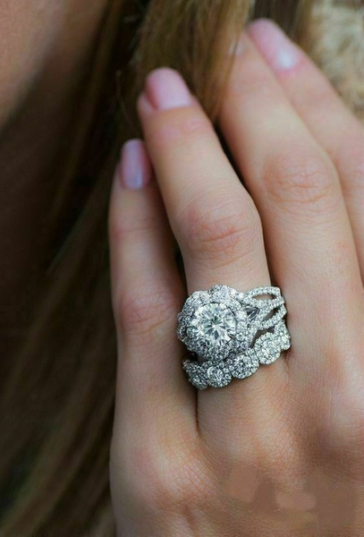 White Gold, DIAMOND, 925 sterling silver, 14k white