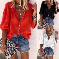 Summer, Fashion, Long Sleeve, casual shirt