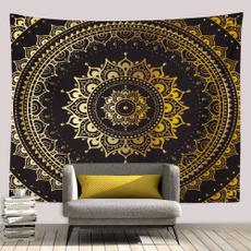 golden, Wall Art, mandalatapestry, Blanket