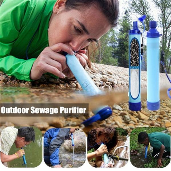 waterpurifier, waterstrawfilter, Hiking, camping