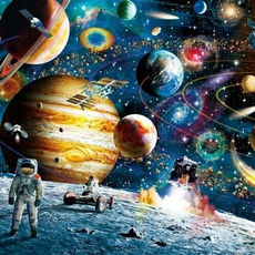 Space, Puzzle, Jigsaw, planet