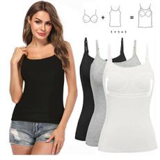 sleevelesstopsforwomen, Summer, breathableunderwear, Fashion