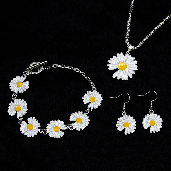 daisyearring, Sterling, 925 sterling silver, Jewelry