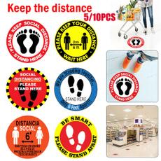 distance, warningsign, floor, distancingsticker