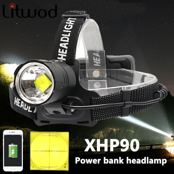 Powerful Led Headlamp Headlight Zoom Head Lamp Flashlight Torch