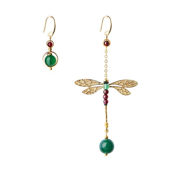 dragon fly, Fashion, asymmetric, Earring