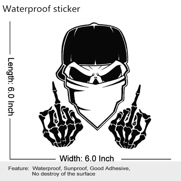 Middle Finger Vinyl Waterproof Sticker Decal Car Laptop Wall Window Bumper Sticker 5