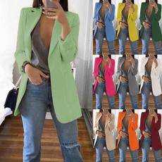 jackets for women, Blazer, Manga, Office