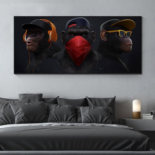 art print, Fashion, art, monkeypainting
