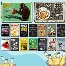 Decor, alchohol, Vintage, bar sign