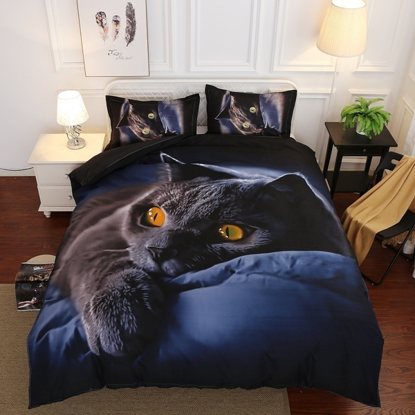 blackcatbeddingset, Oil Painting, painting, Bedding