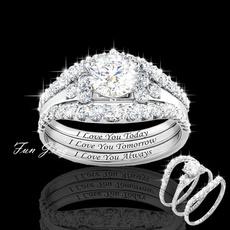 Sterling, Engagement Wedding Ring Set, wedding ring, 925 silver rings