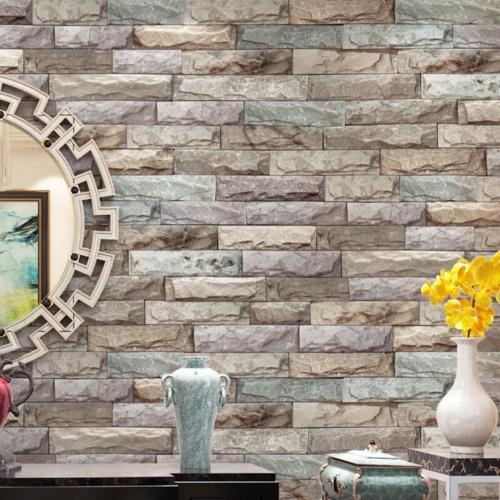 Decor, selfadhesivewallpaper, Wallpaper, brightbrick