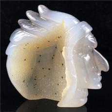 indianskullstatue, crystalhealing, quartz, skull