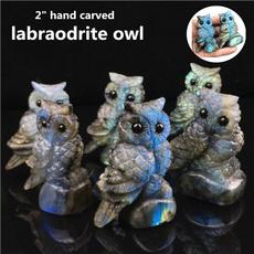 Owl, Stone, Minerals, skull