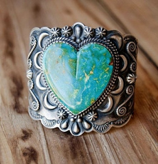 Sterling, Heart, Turquoise, Engagement