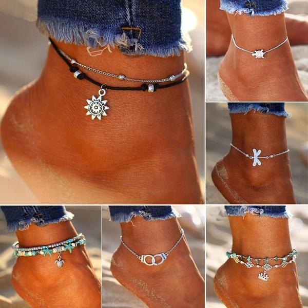 Summer, Fashion, summeranklet, ankletchain