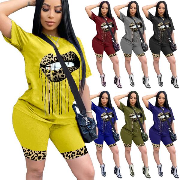 setsforwomen, Plus Size, Sleeve, sportset