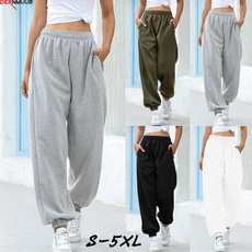Women Pants, Plus Size, sport pants, high waist