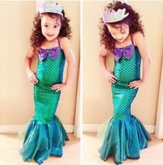 babygirlsmermaiddres, Summer, girls dress, Fashion