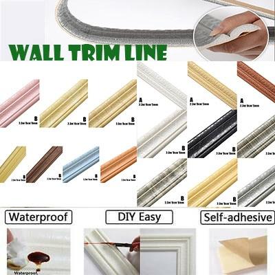 Bathroom, walltrimmoulding, walltrimlineselfadhesive, walldecoration