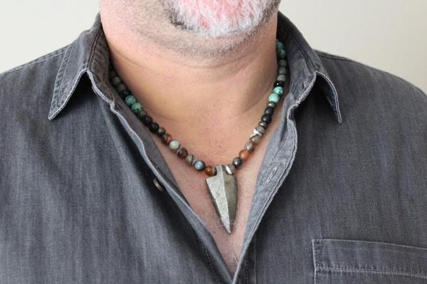 arrowhead, Jewelry, Gemstone, Men