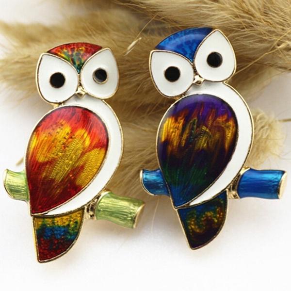 vintagebrooch, Owl, animalbird, Vintage