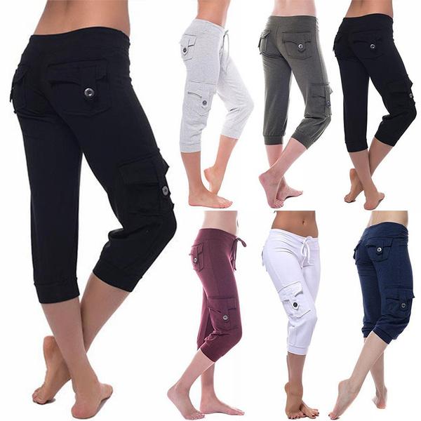 elastic waist, Yoga, Waist, Casual pants
