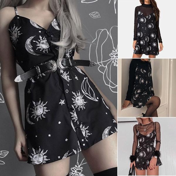 Goth, Dress, GOTHIC DRESS, Floral dress