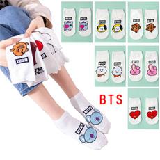 K-Pop, cartoonsock, boatsock, Cotton Socks
