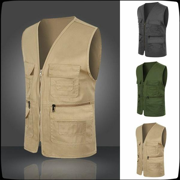 Vest, fishingvest, Outdoor, Men's vest