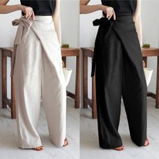 Women Pants, Plus Size, Cotton, Waist
