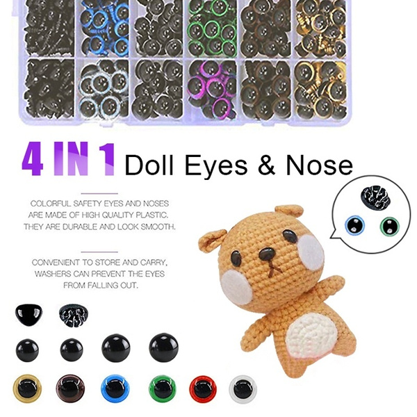 Black Safety Craft Animal Nose for Bear Puppet Doll Made in Japan Style-G 15mm 4pcs//pkg