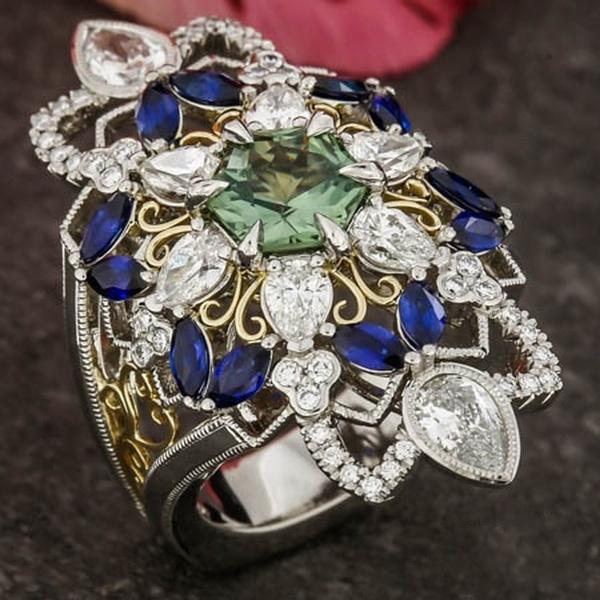 Sterling, DIAMOND, femalering, gold
