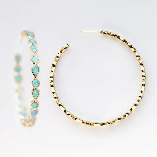 opalearring, gold, wedding earrings, femaleearring