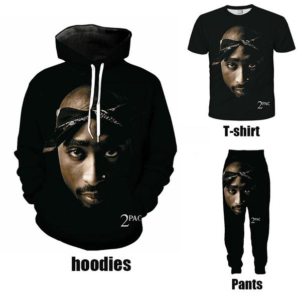 Women//Men 3D Print Rapper Tupac 2pac Hip Hop Singer Casual Hoodie Sweatshirt Top